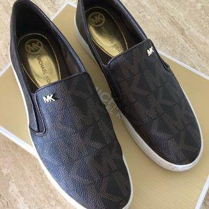 Michael Kors Keaton Logo Slip On Sneakers